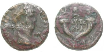 Billon-Didrachme des Claudius